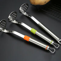 New Food Grade Durable Stainless Steel Potato Masher Presser Kitchen Tools WE