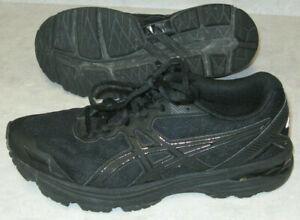 Women's Size 8 1/2 Black Asics Sneakers Shoes
