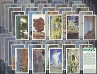 BROOKE BOND-FULL SET- FEATURES OF THE WORLD (50 CARDS) - EXC