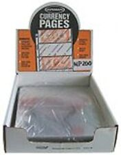 Supersafe Archival Pages -- 4 Pocket (Small Currency) Sold in Pack of 10