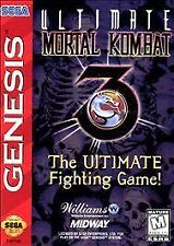 Ultimate Mortal Kombat 3 (Sega Genesis, 1996) GAME ONLY WORKS WELL NES HQ