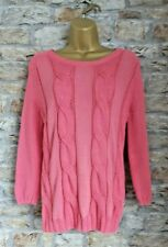 Boden Coral Cable Knit Jumper Size 10