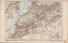 Carte MAP 1897: Maroc. du nord-ouest de l'Afrique. Africa, Morocco, Maroc, Marruecos