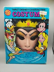 Vintage Walt Disney Wicked Queen Ben Cooper Costume & Mask Size Medium (8-10)
