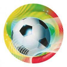 Amscan - Lot 8 Assiettes Carton Football Party2 23cm diam
