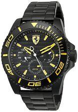 Ferrari Men's 830309 XX Kers Multifunction 50mm All Black Steel Watch 0830309