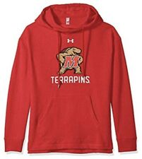 Under Armour UA Women's Maryland Football Fleece Hoodie Sweatshirt Medium M
