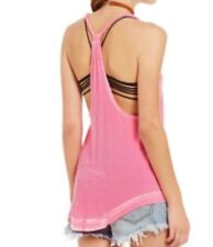 NWT We The Free People Tank Top Cami Shirt  Bright Pink Neon S