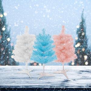 Mini Pink Christmas Tree Decorate Metal Bracket PVC Decoration Festive Items