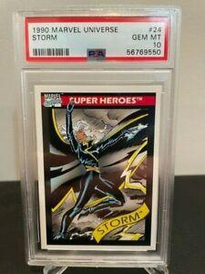 1990 Marvel Universe STORM #24 RC Rookie 1st Card ~ PSA 10 MINT ~ Grail 🔥