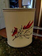 Vintage Designed Ideas Coby Cardinal Waste Paper Basket Garbage Metal Trash Can