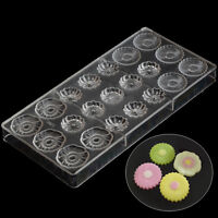 Flower Shaped Chocolate Candy Mold Polycarbonate PC DIY Mould Cookie Tray