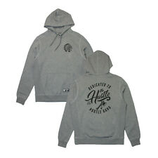 Mens Hustle Gang Dedicated Pullover Hoodie Gray