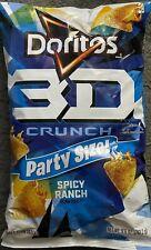 NEW PARTY SIZE DORITOS 3D CRUNCH SPICY RANCH FLABVOR TORTILLA CHIPS 9 1/4 OZ BAG