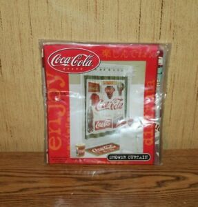 "VINTAGE COCA COLA SHOWER CURTAIN, BRAND NEW 70"" x 72"" 100% Vinyl New NIP"