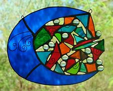 ' MOON MOJO ' Stained Glass Lightcatcher ONE OF A KIND LOVERS GIFT Suncatcher