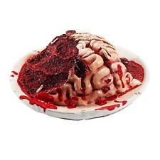 Halloween Horror Gory Bloody Body Part Rotting Brain Plate Party Prop Decoration