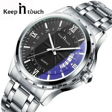 Men Watch Top Brand Luxury Male Watch Stainless Steel Display Calendar Fashion