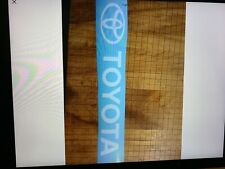 New listing 2-toyota decal vinyl decal toyota forklift decal hood white12.5 x 2