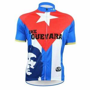 CHE GUEVARA BLUE Cycling Jersey Shirt Retro Bike Ropa Ciclismo MTB Maillot