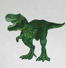 """T REX Dinosaurs Embroidered iron-on Patch 3 3/4"""" New green"""