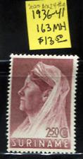 😎 NETHERLAND-SURINAM 1936-41 Queen Wilhelmina Sc#163 MH Sc$13+ FREE S/H 4 USA