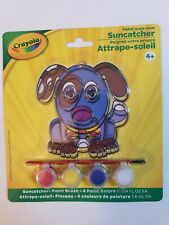 Crayola Paint Your Own Suncatcher Plastic Dog Puppy New Includes Paint and Brush