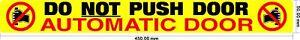 Automatic Door, Do Not Push Door - Taxi / Private Hire - doors S/Adhesive vinyl