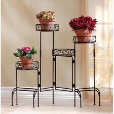 Iron Metal Plant Stand 4-Tier Metal Plant Stand Holder Folding Plant Stand