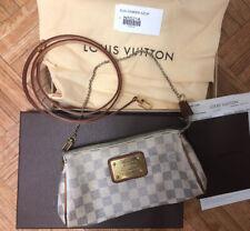Louis Vuitton Damier Azur Eva Crossbody Bag White/gray Check Pattern n55214