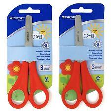 2 x rosso Westcott DESTRI per bambini forbici punta tonda - arrotondato FINALE