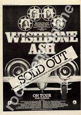 Wishbone Ash The Winkies Rainbow Theatre, London MM4 Tour Advert 1974
