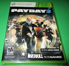 Payday 2 Microsoft Xbox 360 *Factory Sealed! *Free Shipping!