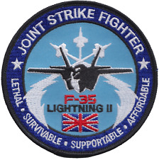RAF Lockheed Martin F-35 Lightning Joint Strike Fighter Round Embroidered Patch
