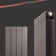"""318mm(w) x 1800mm(h) """"Vesuvius"""" Vertical Anthracite Aluminium Radiator - 4406BTU"""