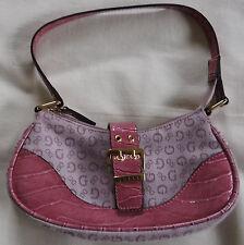 Pink Guess Fabric and Plastic Small Evening Handbag Purse