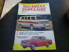 MECANIQUE POPULAIRE n° 175 de 1960 CORVAIR STATION WAGON / RAMBLER très bon état