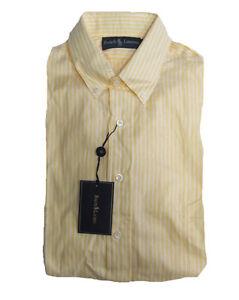 $165 Polo Ralph Lauren Mens Yellow Classic Fit Cotton Button Down Dress Shirt