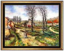 H. CLAUDE PISSARRO Original Pastel Painting Hand Signed French Landscape LARGE