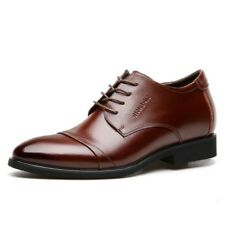 Men's Formal Shoes Business Oxfords Brogues Lace Up Elevator Shoes Faux Leather