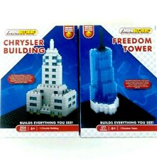 Lot of Construction Bricks MiniBlokko Buildings Freedom Tower