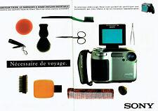 Publicité Advertising 018  1996  caméscope handycam vision Sony Vidéo Hi8 (2p)