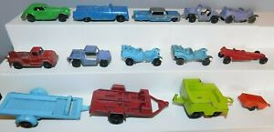 Vintage TOOTSIE TOY of Chicago, Assorted Cars & Trailers, 1960s Metal, 14 Pieces