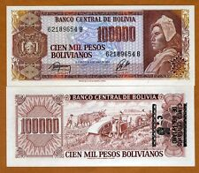 Bolivia, 5 centavos on 100,000 Pesos Bolivanos, ND (1987), P-196A, UNC > ERROR