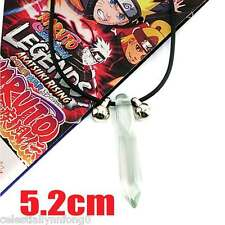 Anime Naruto Tsunade Crystal Pendant Necklace Hokage Bell Charms Uzumaki Cosplay