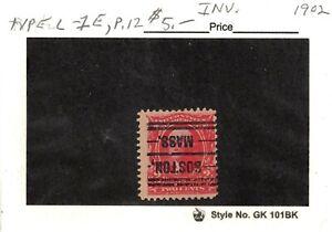 JimbosStamps, U.S .precancels 1902 issue, 2 cent Wash., BOSTON MASS invert