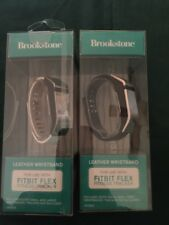 2New Replacement Wristband Leather For Fitbit Flex Fitness Tracker by Brookstone