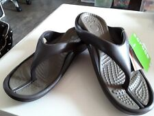 Crocs New with Tags Athens Thongs Expresso/Walnut U.S Size 9 Womens Free Postage