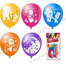 Set latex balloons 30 cm 10 pcs. for holiday Masha and the Bear (Masha i Medved)
