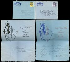 KUT MISSION LETTERS CHRISTMAS 1962 + 1963...2 DIFFERENT ILLUSTRATED